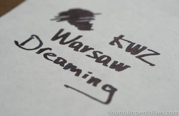 KWZ Warsaw Dreaming writing sample