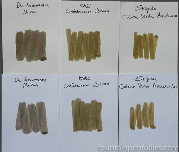 KWZ Confederation Brown swabs comparison