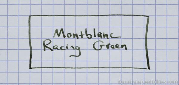 Montblanc Racing Green writing sample