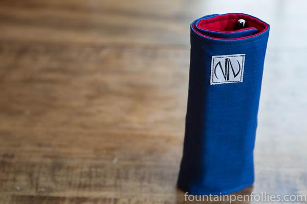 Liz Newton standing pen case velcro desktop wrap