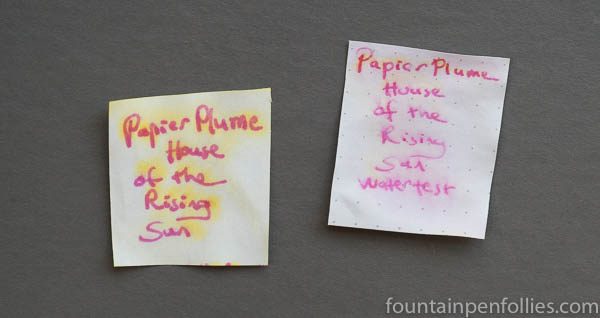 Papier Plume House of the Rising Sun water resistance