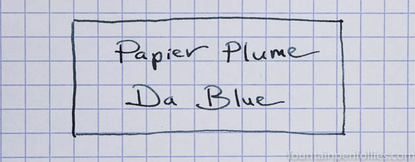 Papier Plume Da Blue writing sample
