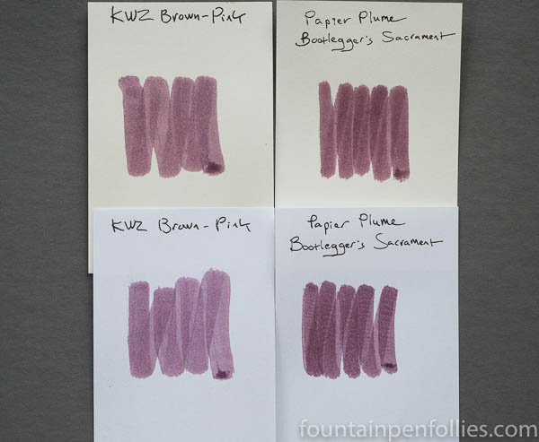 Papier Plume Bootlegger's Sacrament and KWZ Brown-Pink