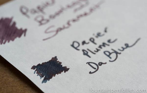 Papier Plume Da Blue sheen