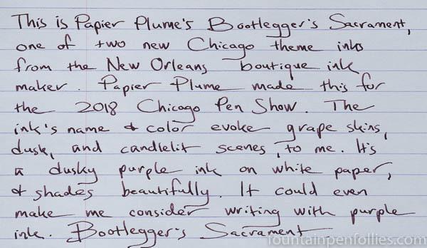 Papier Plume Bootlegger's Sacrament