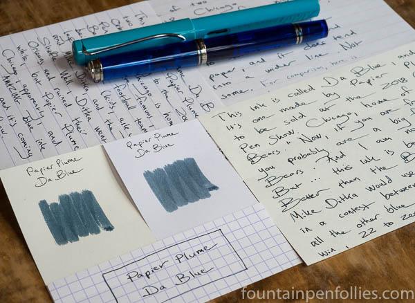 Papier Plume Da Blue