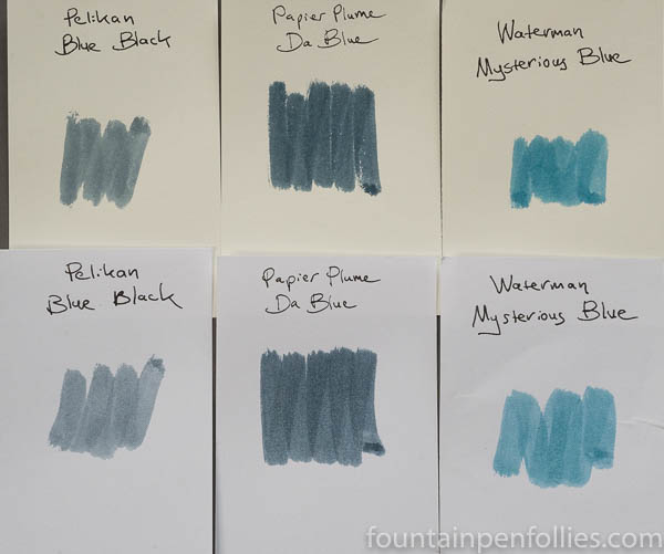Papier Plume Da Blue swabs comparison