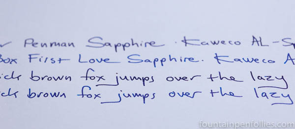 Parker Penman Sapphire compared to Bungbox First Love Sapphire