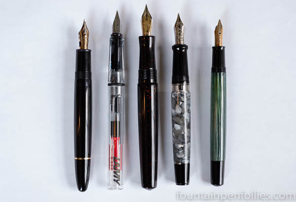 Jonathon Brooks urushi Carolina Pen Company size comparison