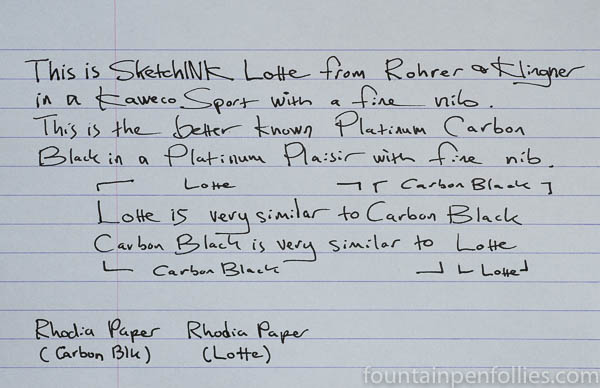 Rohrer & Klingner SketchINK Lotte writing sample