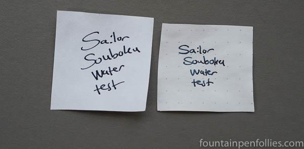 Sailor Souboku water resistance