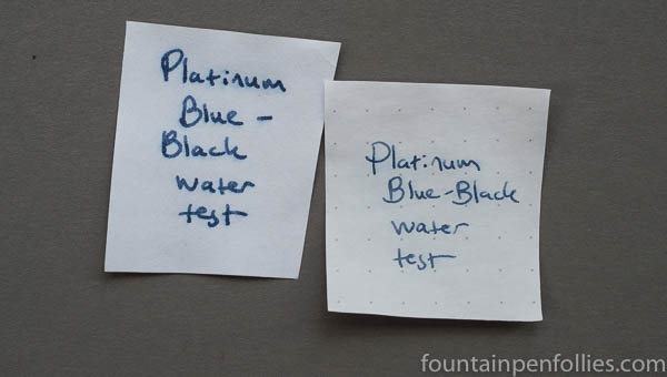 Platinum Blue-Black water resistance