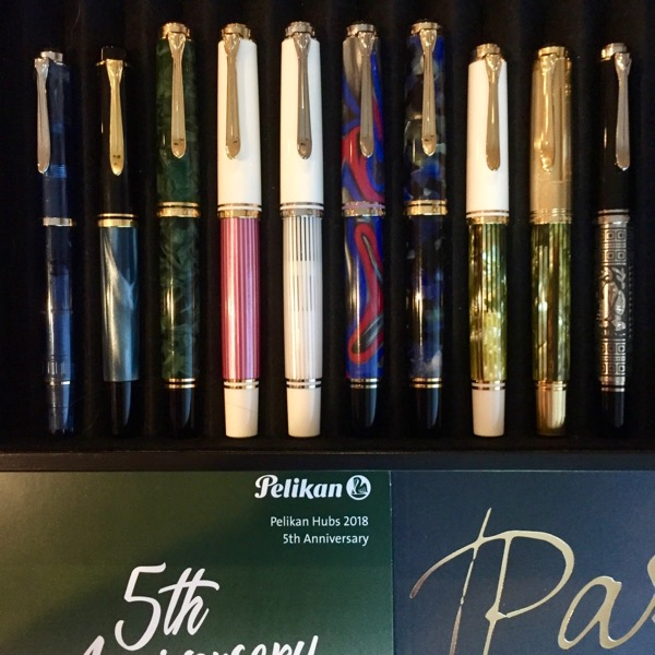assorted Pelikan fountain pens