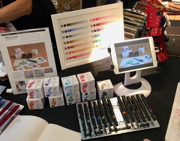 Taccia pen show ink display