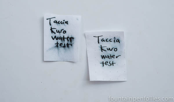 Taccia Kuro water resistance