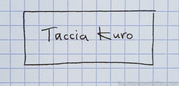 Taccia Kuro ink writing sample