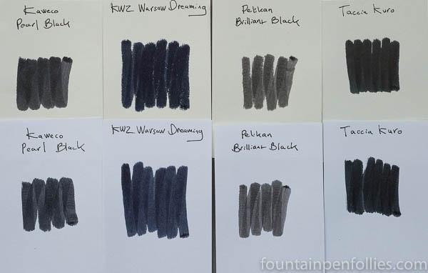 Taccia Kuro ink swab comparisons