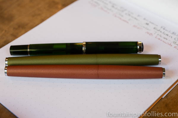 Pelikan M205 Olivine Lamy Studio Olive and Terracotta