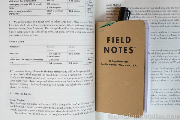 field notes lamy safari cookbook