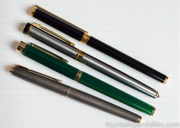 Parker 75, Sheaffer Targa, Dryden Designs Modern Classic, S.T. Dupont Laque de Chine