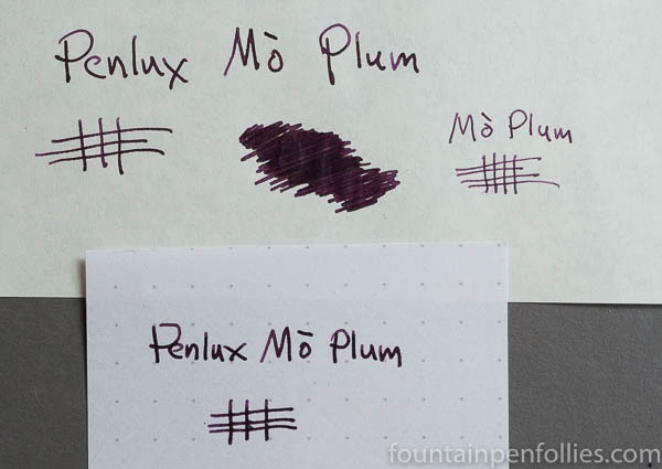 Penlux Mo Plum writing sample