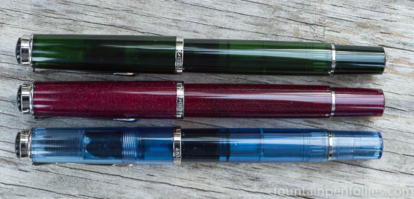 Pelikan M205 Star Ruby, Olivine and Blue Transparent