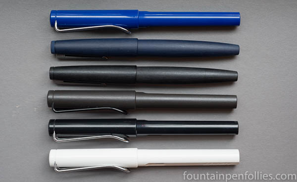 Lamy 2000 Blue comparison